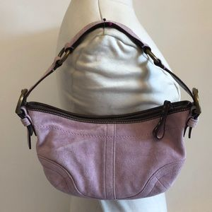 Coach Purple Suede Shoulder Bag